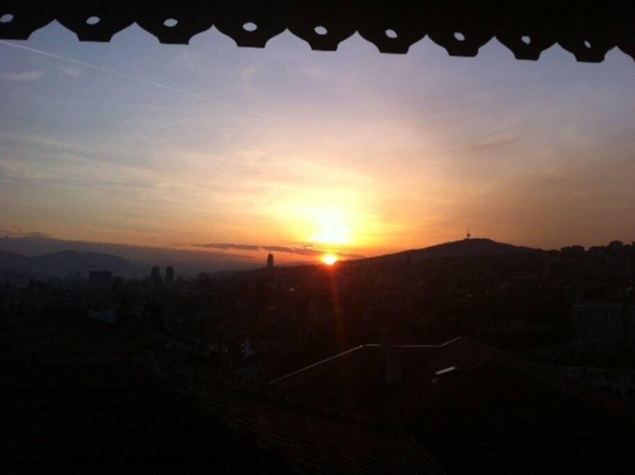 Sundown from terrace