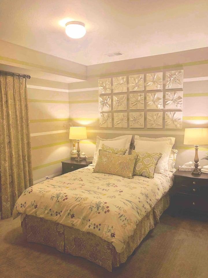 Entire basement floor is yours with bedroom & bath