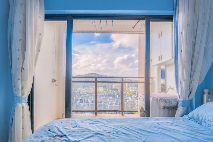 【奕居】(Vigorous apartment)海蓝INS风/香洲总站,茂业百货,浪漫的情侣路,
