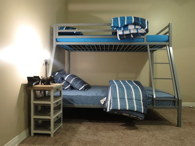 Bottom Bunk in shared (Co-ed) master bedroom (W)