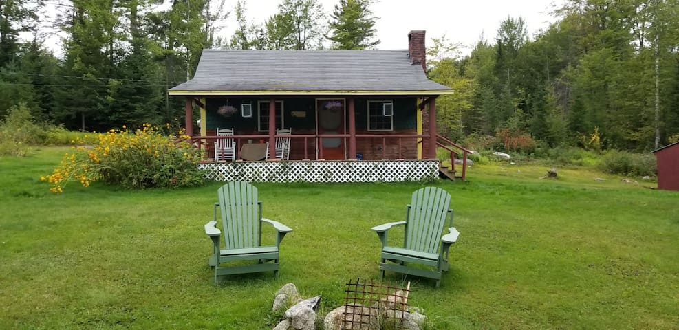 Enjoy the Adirondack chairs near the fire pit.