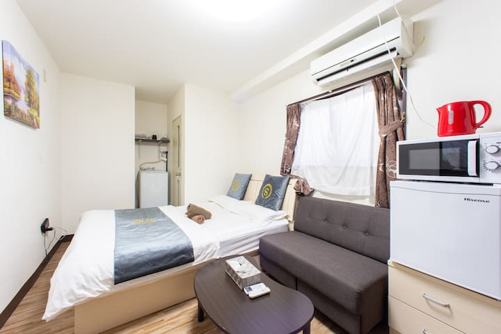 QY33 JR Train station 5-min walk, airport directly