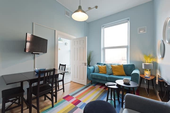 Central 2 bdr First Floor Pad +WiFi+Netflix
