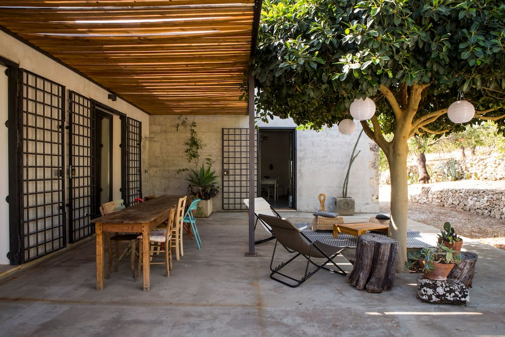 Nice covered terrace