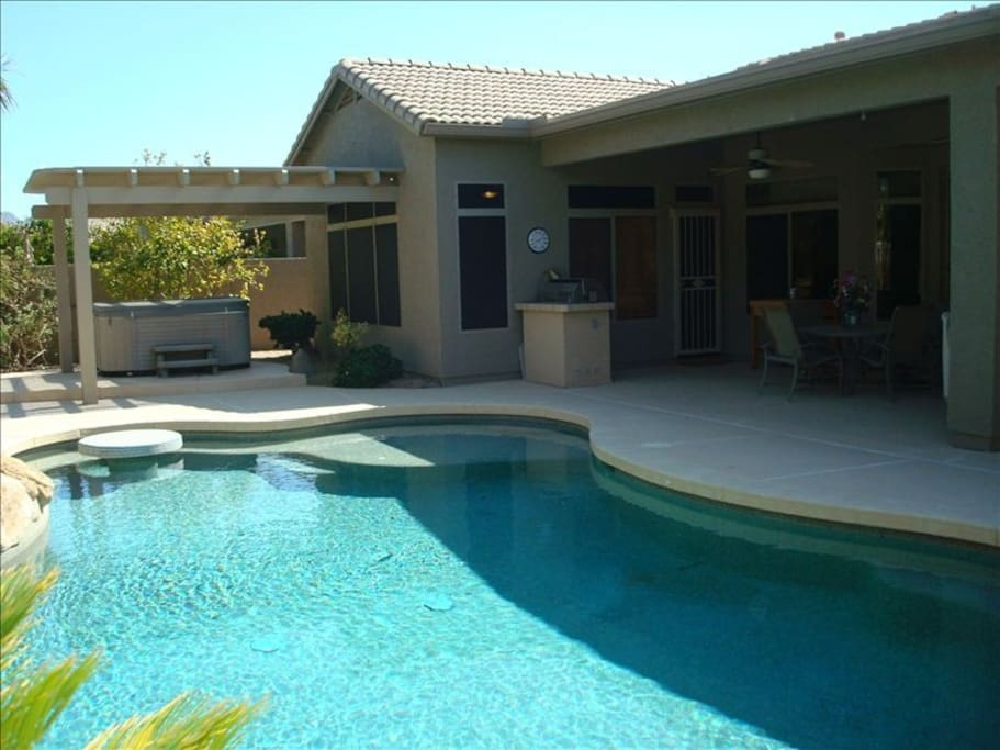 Cool down in pool while looking out at the lake. Heated available for additional cost.
