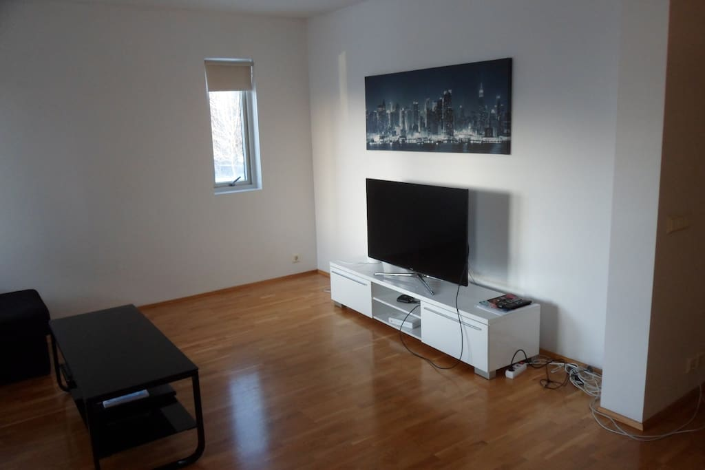 """Living room (angle 1). Samsung smart tv 48""""."""