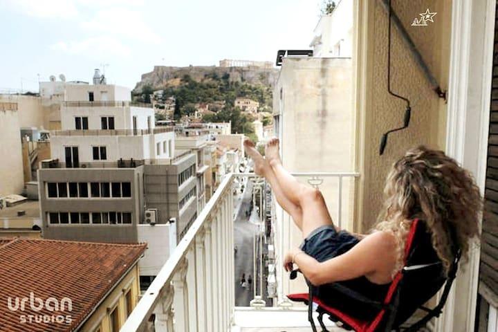 Acropolis View-Ermou & Aiolou studio3@ Monastiraki