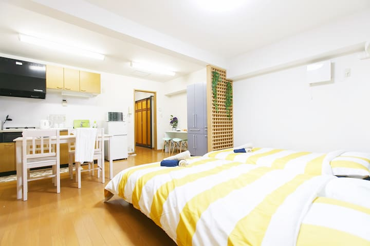 JR Tennouji station 4 beds / R201