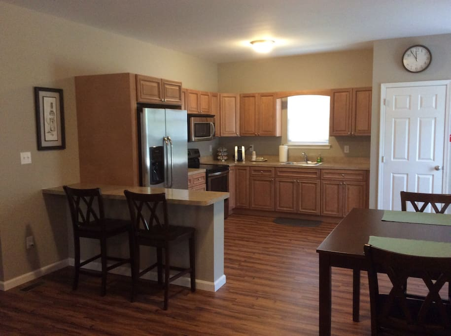 Main Suite - Large eat-in Kitchen. Equipped for cooking.  COMPLIMENTARY coffee.