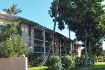 Exterior of Kalama Terrace condominium building