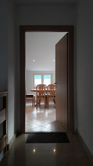 Entrance in the apartment, dining room.