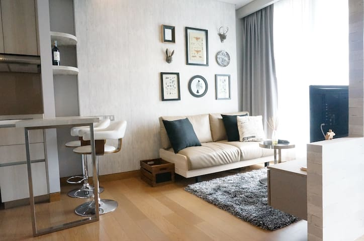 Luxury and Cozy 1BR Apartment Sukhumvit Phrom Pong - Bangkok - Apartament