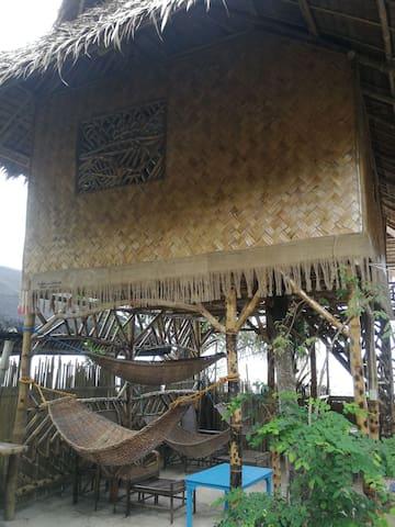 Beach Front Bamboo Hut