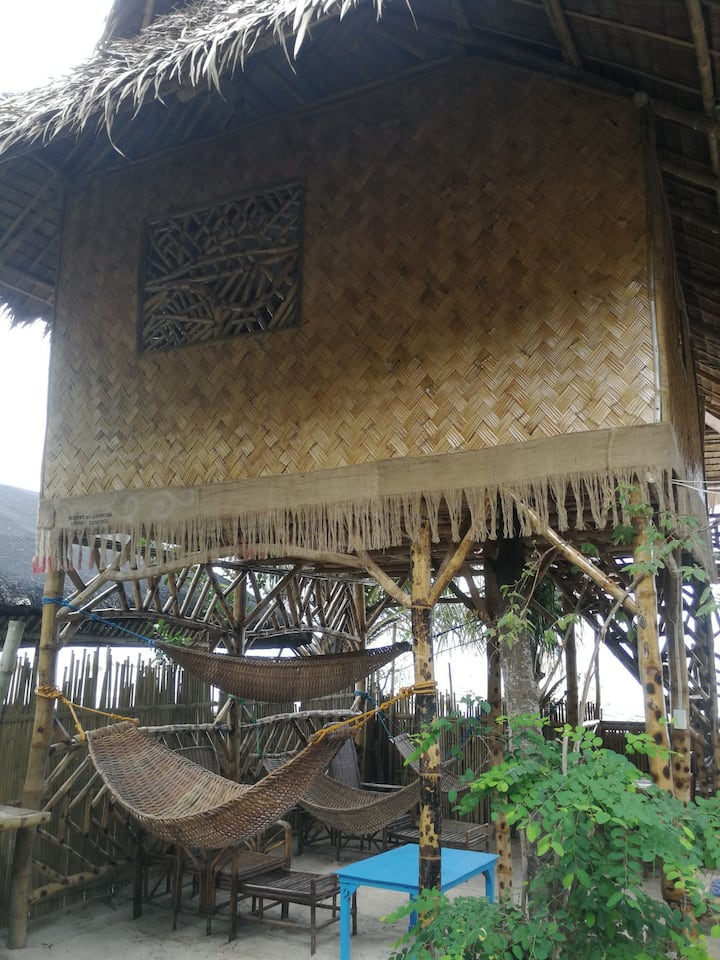 Beach Front Bamboo Hut