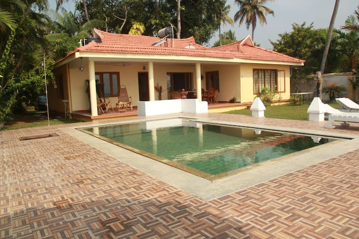 Tranquil Waters- A Pool villa by the backwaters