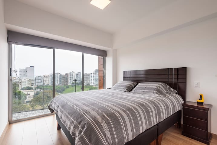 Apt with panoramic view of Barranco and Miraflores