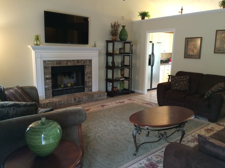 """The Living room with 55"""" LED TV"""