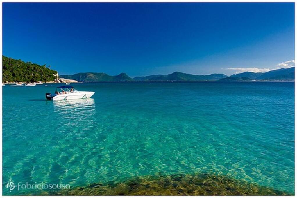 Ilha do Campeche, com saídas de barco para chegar a ilha, do trapiche da armação.