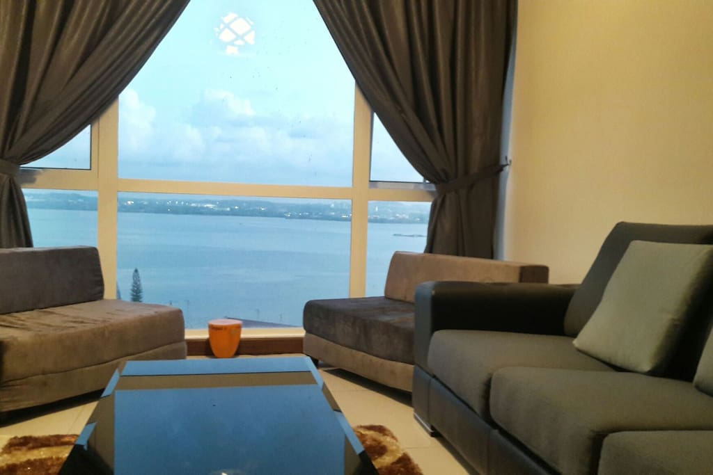 A panaromic sea view in the comfort of our living area