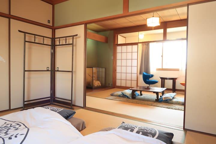 Main bedroom and salon