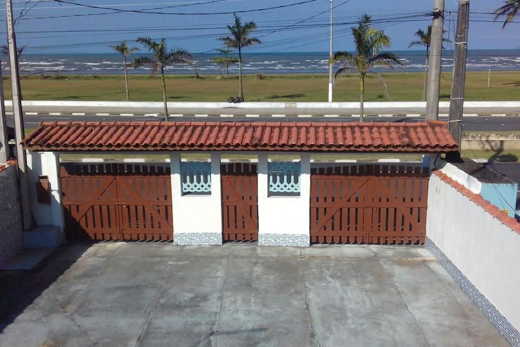 Vista da varanda frontal.