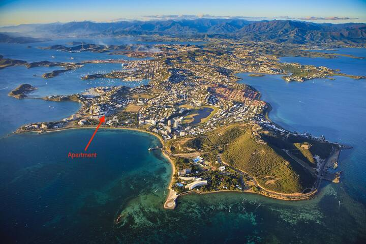 Apartment location on Anse Vata - South Noumea aerial view
