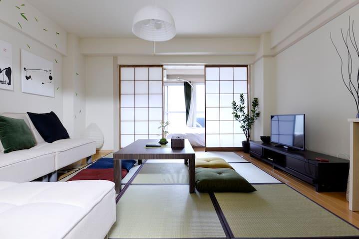 Shinjuku 5min→STA 3BDs 5pax $0WiFi - 新宿区 - Lägenhet