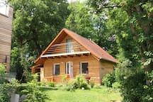 Oettis Hütte am Hainer See mit Kamin+Kanu+Rädern