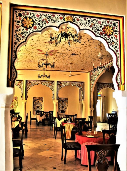 Our fresco painted restaurant