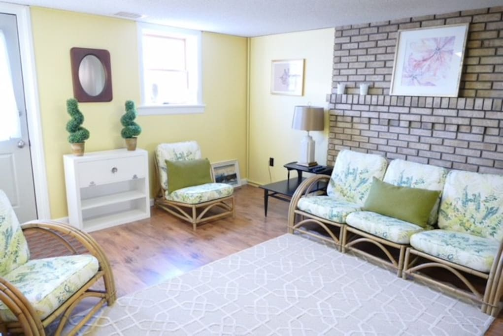 Bright and cheery living space