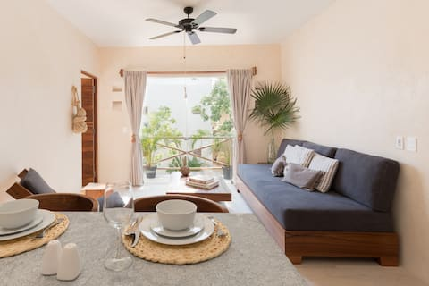 The perfect 1BR APT in TULUM! 3 PAX WiFi 150mbps!