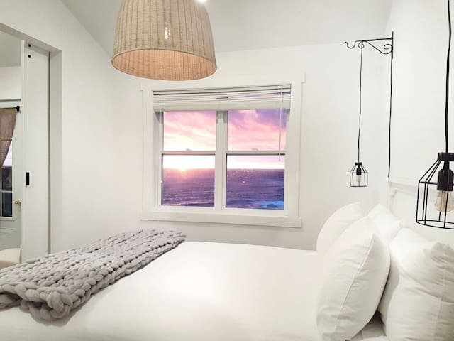 Relax in your bedroom and take in the awesome sunsets.