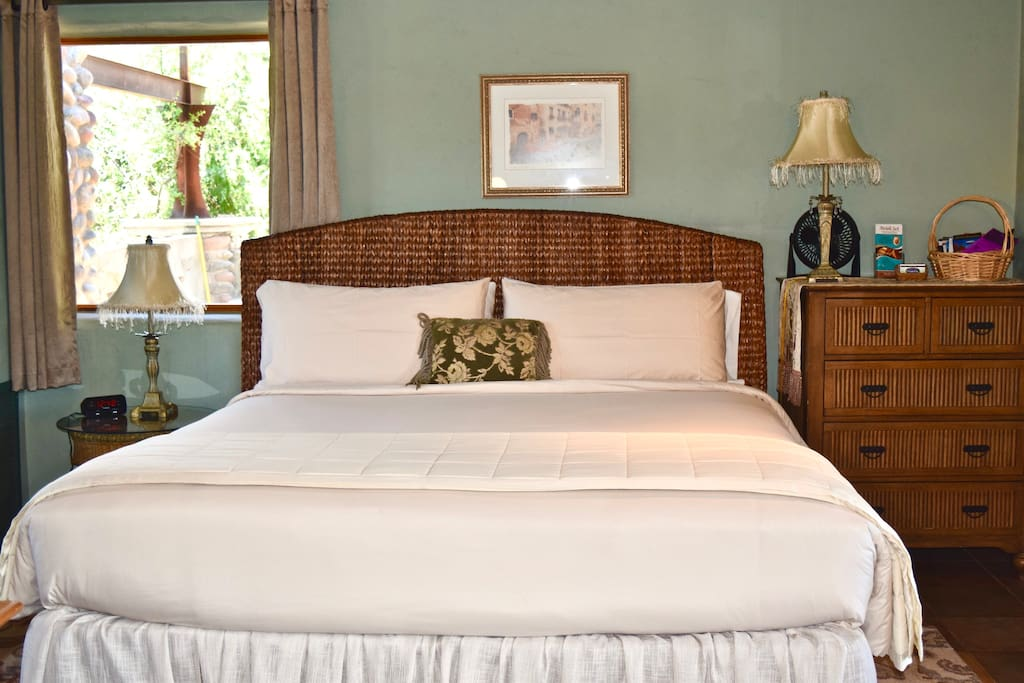 Enjoy a King bed in the Serenity Room