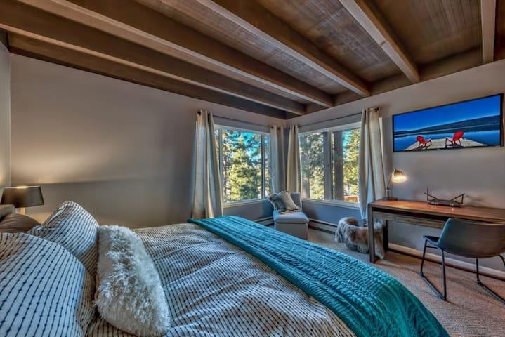 Master King Bedroom includes flat screen tv