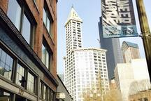 View of Smith Tower from our front door