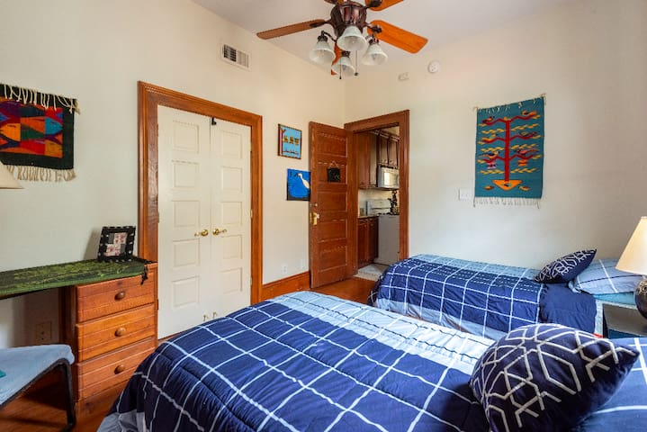 The Okra Inn's Twin Bedroom: On Canal Streetcar