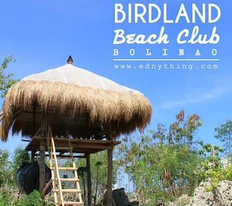 Bamboo Cogon Kubo Hut at Birdland Beach Club - Bolinao