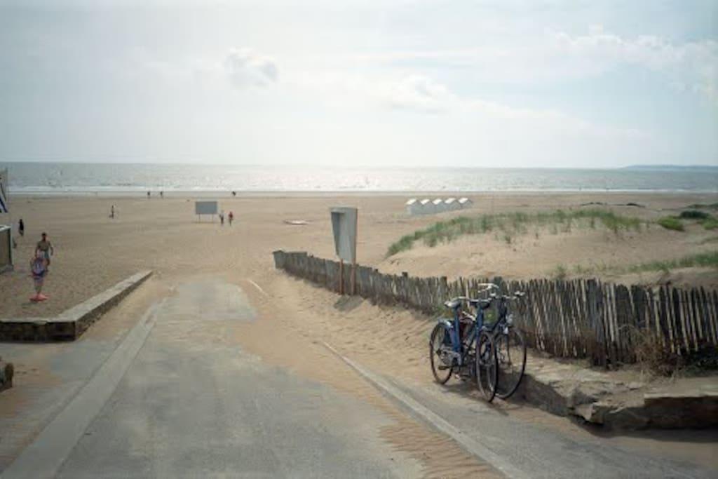 en face la plage