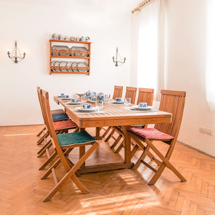 "dining room  table 240 cm /95"" 8 chairs"