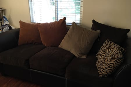 Great comfy sofa in apartment - Long Beach
