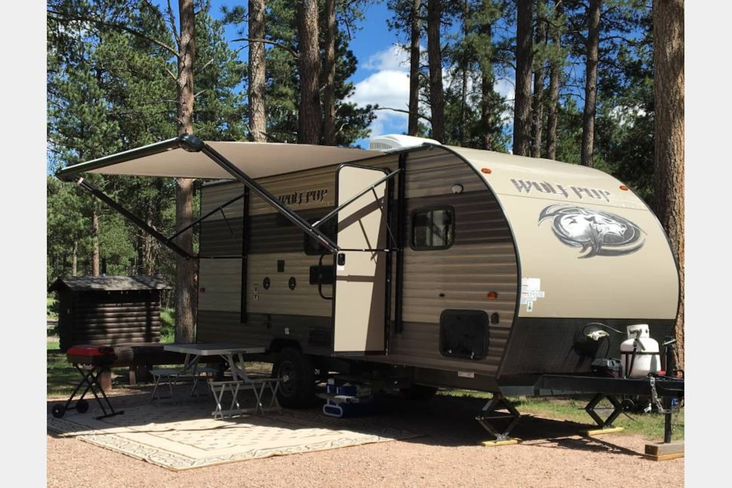 Enjoy a camping experience in our New Camper with all the needed amenities included.