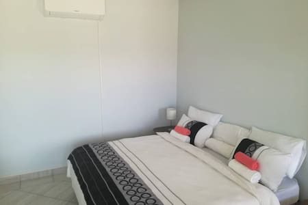 Guest house ensuite modern double bedroom- Room 1