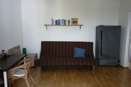 Helles Zimmer mit Balkon und Sicht auf die Donau