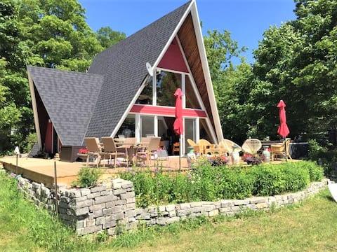 Maison élégante et paisible à Sainte-Pétronille