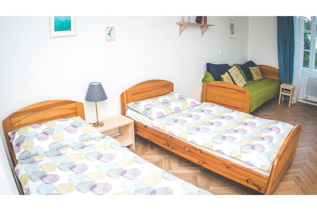 Large sunny flat for up the 8 people.