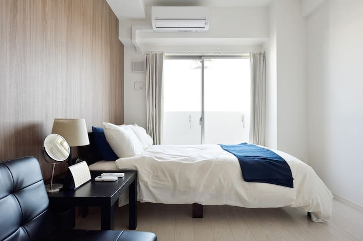 Convenient,Quiet,Safe Location.Best Room For Trip3 - Chuo Ward, Osaka - Leilighet