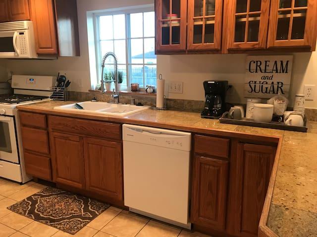 New range, dishwasher, and microwave