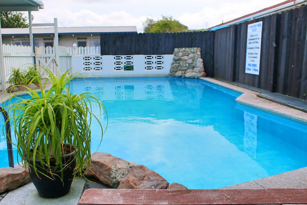 Heated out-door swimming pool