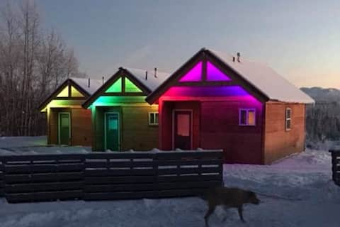Big Lake's Aurora Lights Cabins: Salmon