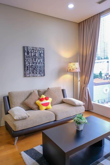 Living Hall with comfortable lightings